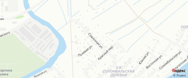 Совхозная улица на карте Архангельска с номерами домов