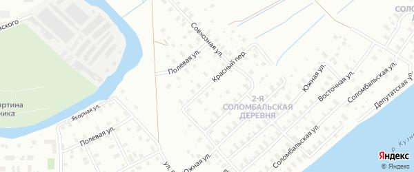Красный переулок на карте Архангельска с номерами домов