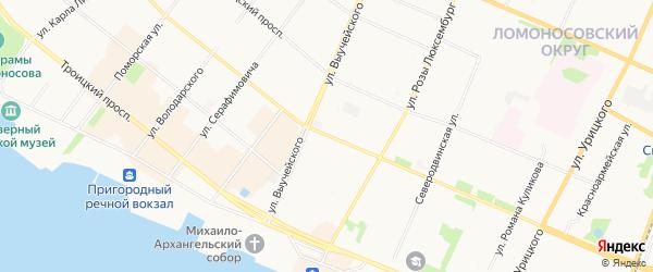 ГСК Тепловик на карте проспекта Ломоносова с номерами домов