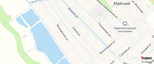Новая улица на карте Майского поселка с номерами домов