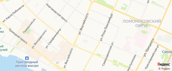 ГСК ЛАДА-СЕРВИС на карте Новгородского проспекта с номерами домов