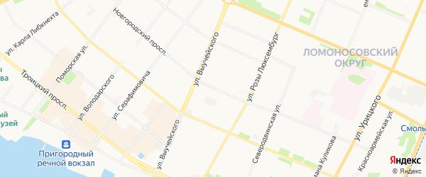 Кулой ГСК на карте Новгородского проспекта с номерами домов