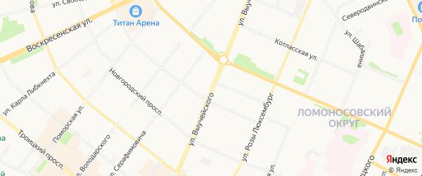 ГСК Молдинг на карте улицы Выучейского с номерами домов