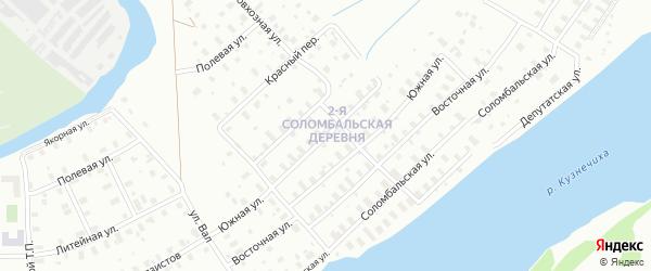 Улица Крупской на карте Архангельска с номерами домов