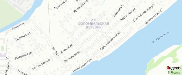 Южная улица на карте Архангельска с номерами домов