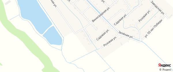 Виноградный переулок на карте Майского поселка с номерами домов
