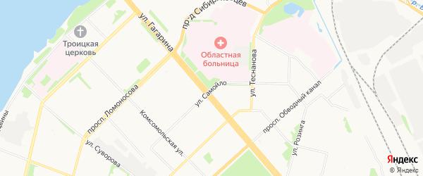 Карельский ГСК на карте улицы Самойла с номерами домов