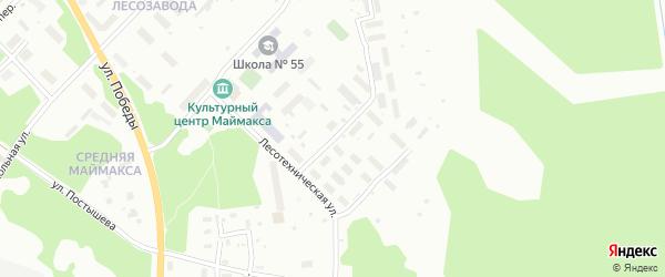 Байкальская улица на карте Архангельска с номерами домов