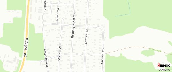 Охотная улица на карте Архангельска с номерами домов
