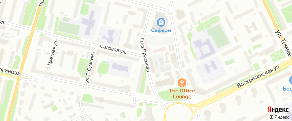 Проезд Приорова на карте Архангельска с номерами домов