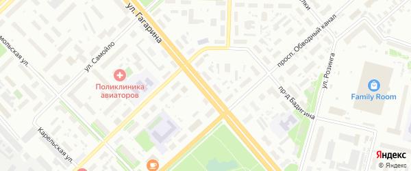 Улица Гагарина на карте Архангельска с номерами домов