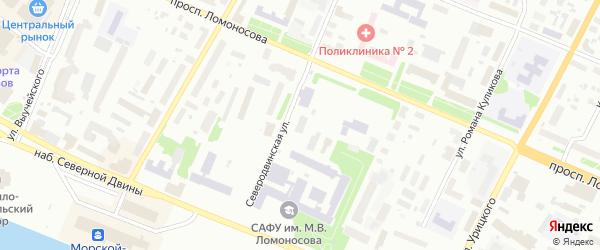 Километр Северодвинская ветка 2 на карте Архангельска с номерами домов