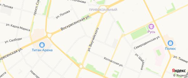 ГСК Север на карте улицы Суфтина с номерами домов