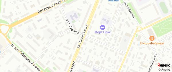 Улица Суфтина на карте Архангельска с номерами домов