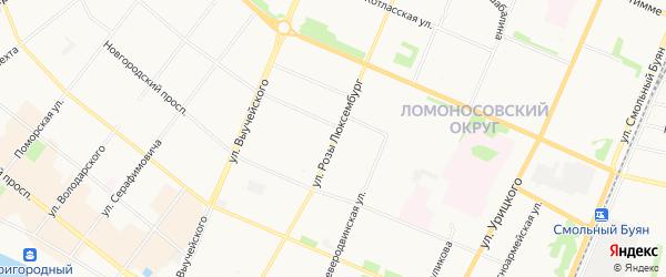 ГСК Морской-2 на карте улицы Розы Люксембург с номерами домов