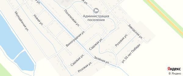 Южно-Набережный переулок на карте Майского поселка с номерами домов