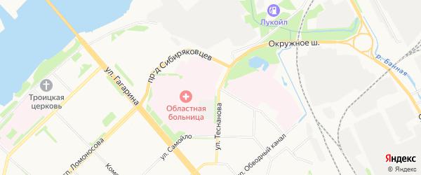 ГСК Высуф-2 на карте проезда Сибиряковцева с номерами домов