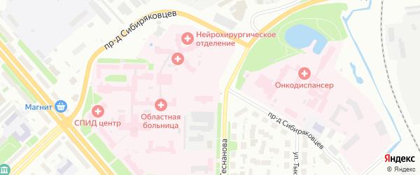 Проезд Сибиряковцев на карте Архангельска с номерами домов