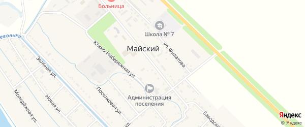 Заводская улица на карте Майского поселка с номерами домов