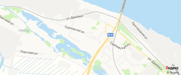 ГСК Полет на карте Онежской улицы с номерами домов
