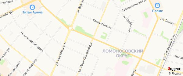 ГСК Витязь на карте проспекта Обводного Канала с номерами домов