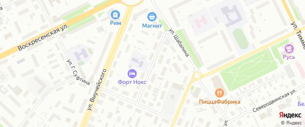 1-я улица на карте Архангельска с номерами домов