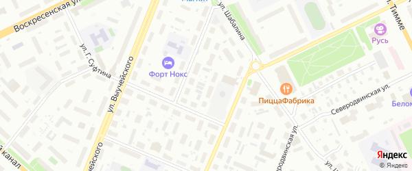 Проезд 2-й (Кузнечихинский промузел) на карте Архангельска с номерами домов