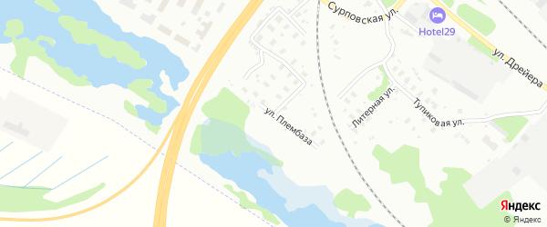 Улица Плембаза на карте Архангельска с номерами домов