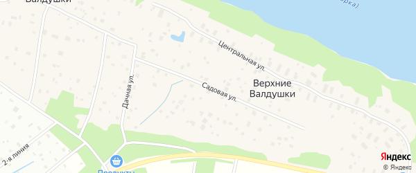 Садовая улица на карте деревни Верхние Валдушки с номерами домов