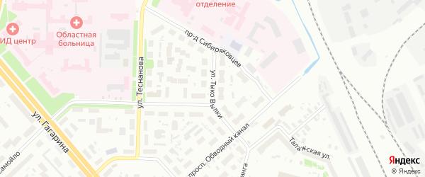Улица Тыко Вылки на карте Архангельска с номерами домов