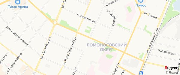 ГСК Нордвик на карте Северодвинской улицы с номерами домов