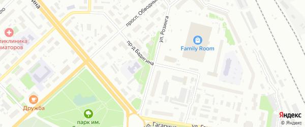 Проезд Бадигина на карте Архангельска с номерами домов