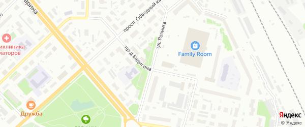 Улица Розинга на карте Архангельска с номерами домов