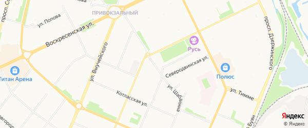 Котласский ГСК на карте улицы Шабалина с номерами домов