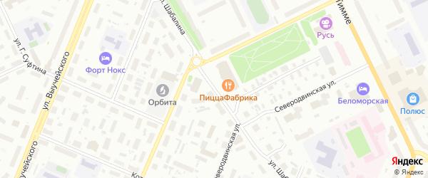 Улица Шабалина на карте Архангельска с номерами домов