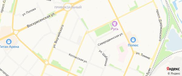 Нагорный ГСК на карте улицы Шабалина с номерами домов