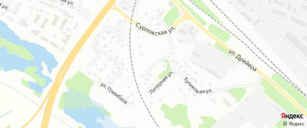 Объездная улица на карте Архангельска с номерами домов
