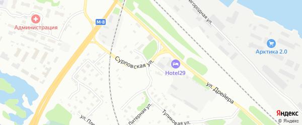 Станционная улица на карте Архангельска с номерами домов