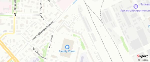 Талажская улица на карте Архангельска с номерами домов
