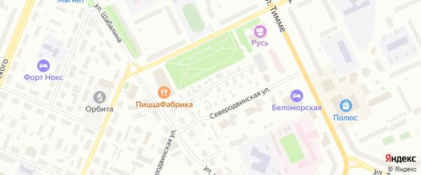Проезд 8-й (Кузнечихинский промузел) на карте Архангельска с номерами домов