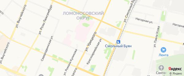 Ижемский ГСК на карте улицы Урицкого с номерами домов