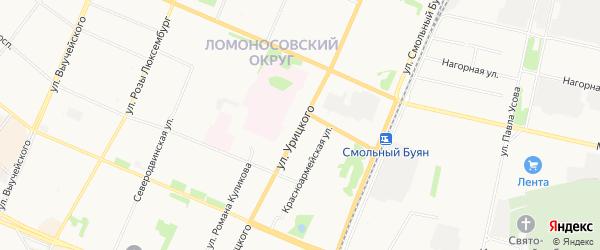 ГСК Смена на карте улицы Урицкого с номерами домов