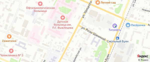 Улица Урицкого на карте Архангельска с номерами домов