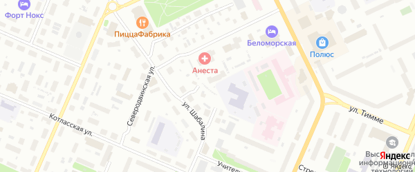 Ижемская улица на карте Архангельска с номерами домов