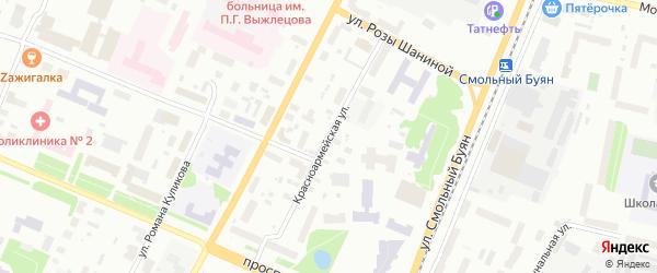 Красноармейская улица на карте Архангельска с номерами домов