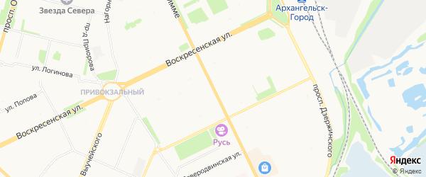 ГСК Москвич на карте улицы Тимме с номерами домов