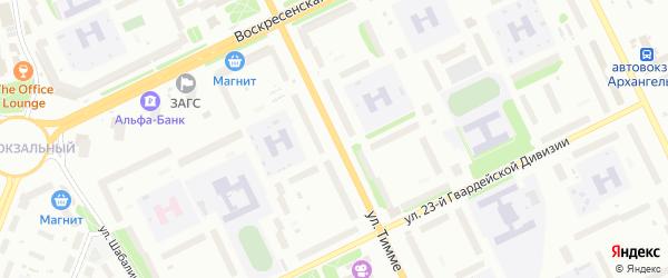 Улица Тимме на карте Архангельска с номерами домов