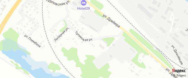 Тупиковая улица на карте Архангельска с номерами домов