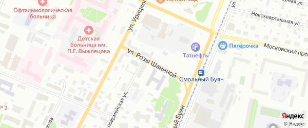 Улица Розы Шаниной на карте Архангельска с номерами домов