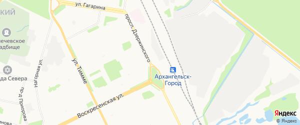 ГСК Надежда-2 на карте проспекта Дзержинского с номерами домов